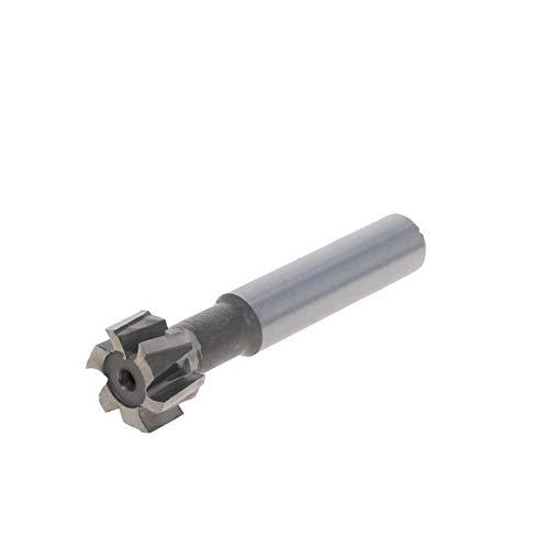 Utoolmart HSSAL T Slot End Mill Milling Cutter 6 Flutes 16mm Cutting Dia 8mm Depth 1pcs