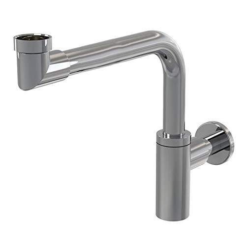 NEG Design Raumspar-Siphon NX65R (rund) Ablauf für Waschbecken/Waschschalen (mit Geruchsverschluss)