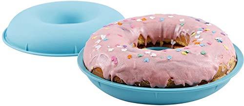 Webake Jumbo Silicone Donut Cake Pan Non-Stick Bagel Cake Mold 10 inch Set of 2 Halves Baking Molds