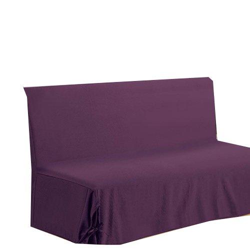 HomeMaison HM69451656 hoes voor slaapbank, katoen/polyester, 200 x 140 cm, violet
