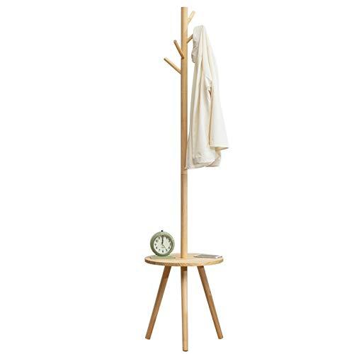 MQH Perchero Pantalla de Abrigo Independiente de Madera con Soporte de Soporte de árbol de Mesa de Mesa con Ganchos para el Sombrero de la Chaqueta Colgante Perchero de Pie