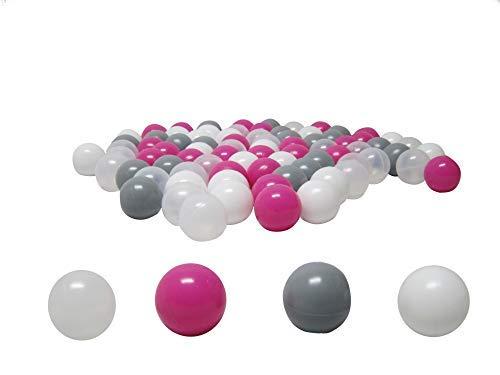 """100 palline """"Pink-Mix"""" (testato e certificato Tüv 2019) per palline da bagno, palline di plastica"""
