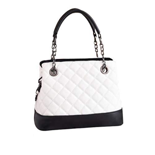 Rare Fig London Designer-Handtasche für Damen, gesteppt, Messenger-Tasche mit Gurt für Partys, Abendveranstaltungen, legeres Geschenk, Weiá (weiß), Einheitsgröße