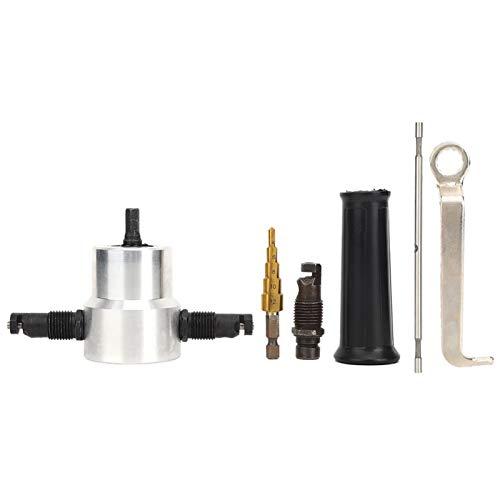 LANTRO JS - 6 piezas de acero al carbono + plástico de doble cabeza, cortador de hoja de metal, cortador, taladro, taladro, accesorio para reparación de automóviles