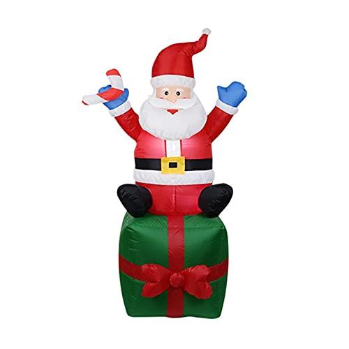 GDYJP Bonhomme de Neige Gonflable de Noël de Noël 150/180cm, poupée LED Nuit Figure Figure Jardin Jouets Fête Décorations de Noël Nouvel an 2021 (Color : A 1.8m US Plug)