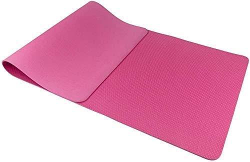 NDYD Mats de Yoga para Ejercicios, Resistente al desgarro, Muy Grueso, Muy Grueso, con Correas o Deportes ecológicos (Color: Rosa) DSB