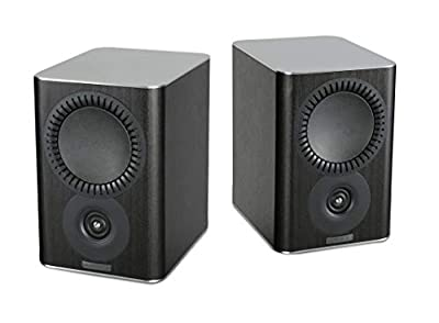 Mission QX-1 Bookshelf Speakers - Black Wood (Pack of 2) by Mission