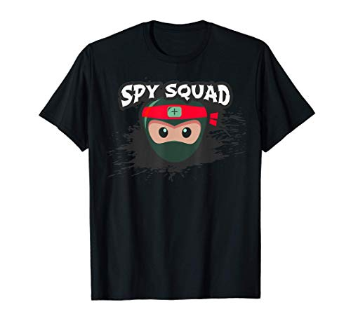 SPY SQUAD Kids Covert Operation Ninja Crew Funny Birthday T-Shirt
