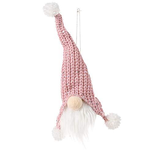 CheerlueY Muñeca sin rostro Decoración de Navidad Árbol de Navidad Mini Muñeca Pequeña Colgante Sentado Postura Bosque Hombre Muñeca