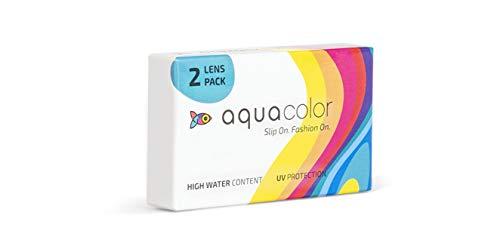 AQUALENS CONTACT LENSES Monthly Disposable Hot Hazel Colour Lenses (2 Lenses/Box/Plano)