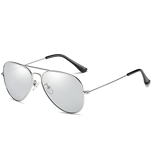 Gafas De Sol Gafas De Sol Polarizadas con Piloto Clásico para Hombres Mujeres Marco Ultraligero Conducción De Gafas De Sol Uv400 Protección-C4 Silver Mirror
