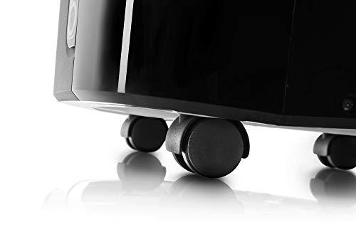De'Longhi Pinguino PAC EX120 Silent - mobiles Klimagerät mit Abluftschlauch, Klimaanlage für Räume bis 110 m³, Luftentfeuchter, Ventilationsfunktion, 24h-Timer, 3 KW, 80,5 x 44,5 x 39 cm, schwarz