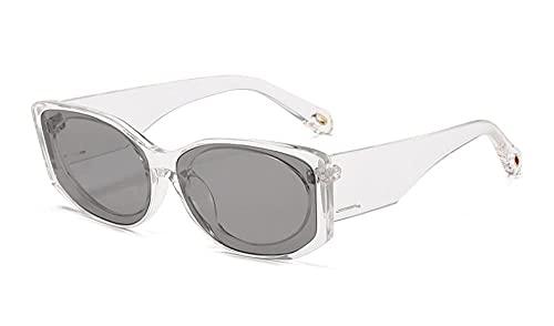 U/N Occhiali da Sole Quadrati Vintage Donna Trendy Fashion Big Frame Occhiali da Sole Neri Occhiali da Donna Unisex-3
