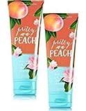 Bath and Body Works 2 Pack Pretty as a Peach Ultra Shea Body Cream 8 Oz.