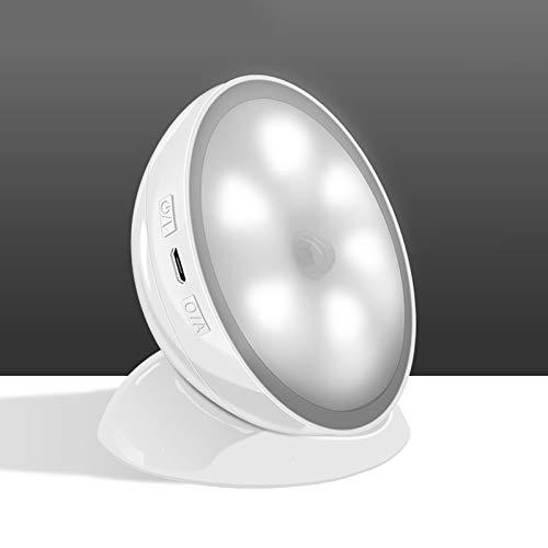 YongQiang- Creativa LED recargable del cuerpo humano luz de la inducción inteligente for la sala de baño Corredor armario (blanco). (Color : Yellow)