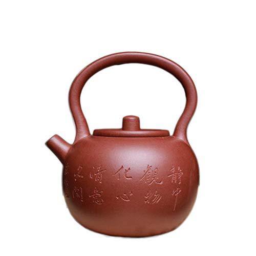 YYFUS Jing Yixing Purple Clay Teapot Tea cup In The Bucket of Handmade Teapot Tea Maker Sand Pot (Color : Red)