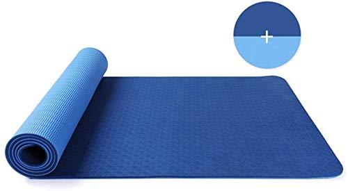 hhkty 6mmExercise Yoga Estera del cojín no del resbalón Duradero Entrenamiento Fitness Gym meditación Cojín de Caucho Natural Grueso Pierde Peso, 183 * 61cm (Color : #2)