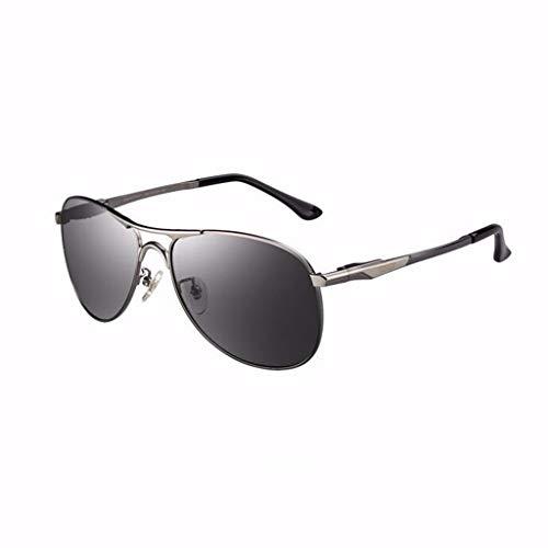 AHUAA Sonnenbrille Herren Farbwechselnde Polarisierte Sonnenbrille Für Autofahrer Anti-Fernlicht-Nachtsichtbrille Fliegerbrille (Color : A)