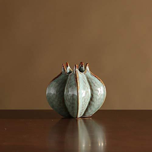Vase Céramique Table Fleur Blanche en Céramique Petit Vase Creative Salon Porcelaine Fleurs Séchées Plug Vase (Color : A, Size : C)