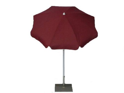 Maffei Art 22 Parasol Rond diamètre cm 200, Coton Standard, inclinable, Made in Italy. Couleur vin