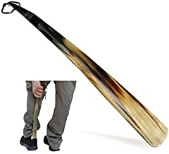 Shoe Horn Made with Real Horn Handmade. Easy Grip Long handle Shoehorn for Men,Women Seniors, Pregnancy, Elderly, back pain, tall people and kids Shoes & Boots.Best Gift Idea Home or Travel Use.(17'')