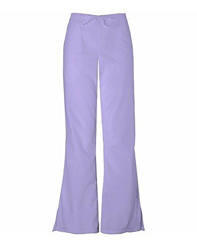 CHEROKEE Women's Flare Leg Drawstring Scrub Pant, Orchid, Large Petite
