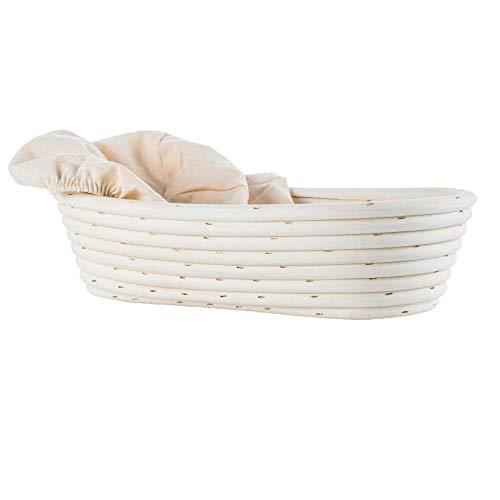 Oval (13,8 x 6,1 x 2.7 Inch) Bread Banneton Proofing Basket