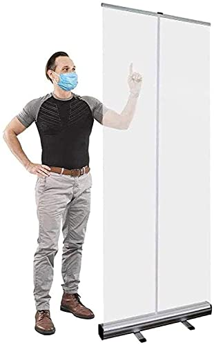 Jcxt, protezione impermeabile per la reception, trasparente, isolamento da ufficio, per proteggere il viso, pavimento e proteggere lo schermo da starnuti trasparente, divisorio per dispositivi mobili