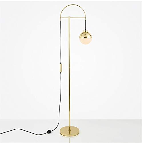 JSJJARF Lampara de pie Lámpara de pie for la Sala Bola de Cristal LED lámpara de Mesa de Noche for el Dormitorio Decoración Lámparas de Mesa (Lampshade Color : Black)