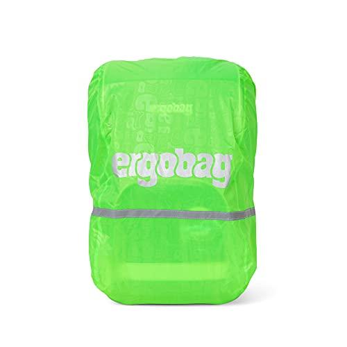 ergobag Regenschutz - für Schulrucksäcke, wasserdicht, Leuchtfarben, Reflektoren, Gummizug