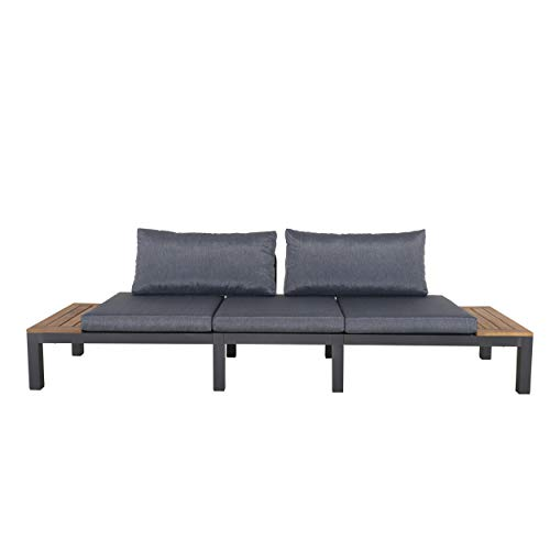 Chicreat Three-Seat Convertible Sofa with FSC Acacia Side Table, 270 x 78 x 86cm - 2