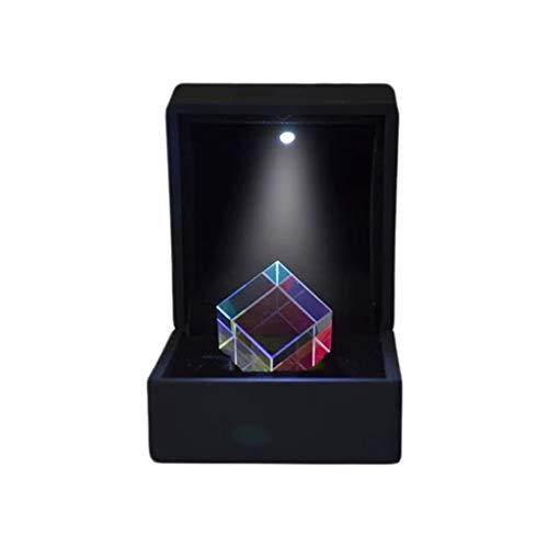 Strele X-Cube De Vidrio Óptico, Divisor Combinado De Prisma De Cubo Dicroico RGB, Gafas De Prisma Óptico De Experimento Científico K9, Juguete De Clase De Regalo Educativo De Física 23 * 23 * 23 Mm