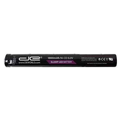 77175 Rechargeable Replacement Battery for Streamlight SL-20XLED SL-20XP-LED, UltraStinger, Superstinger, SL20L, SL-20LP | 1800mAh Ni-Cd 6.0V