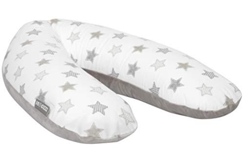 Snoozzz - Cojín de embarazo y lactancia, diseño con estrellas, color gris