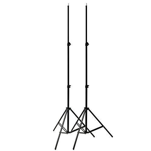 MASUNN 2 Stks Professionele Draagbare Foto 2 M 7ft Licht Stand Camera Statief Verlichting Kit