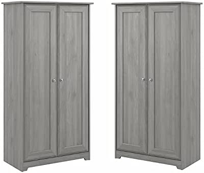 Home Square 2 Super sale Piece Tall Wood Doors Set Cabinet in Storage with Daily bargain sale