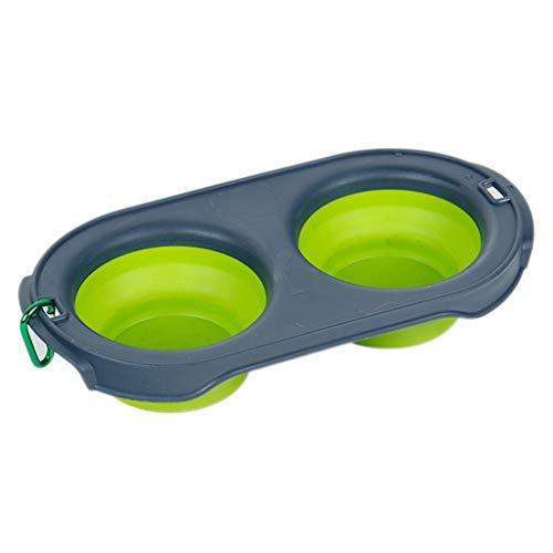 TXC Dog Basin Dog Bowl Bowl Bowl met dubbele schaal, automatisch, drinkwater, bowl dog bowl, dranken, reisschaal voor dieren, grote capaciteit
