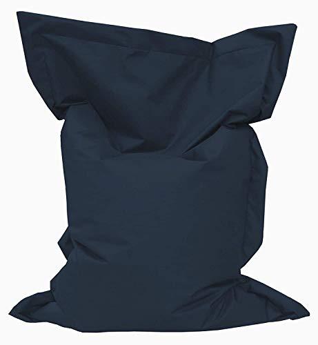 Giant Bag Sitzsack GiantBag Chill Out Liege & Sitzkissen Indoor & Outdoor Tobekissen Bodenkissen Sessel für Kinder & Erwachsene (145 x 100, Marine)