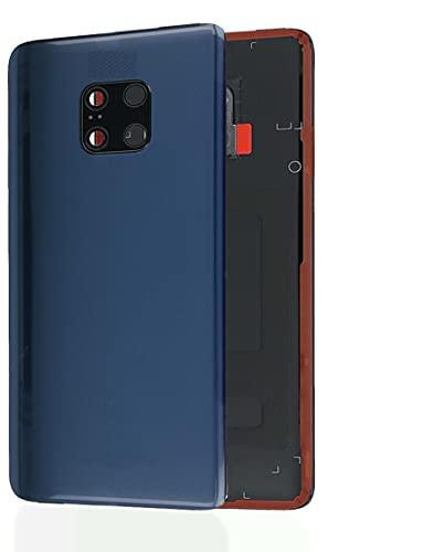 KIT 3 Pezzi Copri Batteria + biadesivo + lente compatibile per Huawei Mate 20 Pro LYA-L09 LYA-L0C LYA-L29 6.39 n.1 Vetro Posteriore Back Cover Retro Scocca + adesivo + Lente con cornice BLU