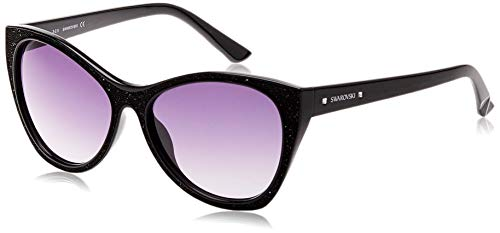 Swarovski Sonnenbrille SK0108 5901B Occhiali da Sole, Nero (Schwarz), 59 Donna