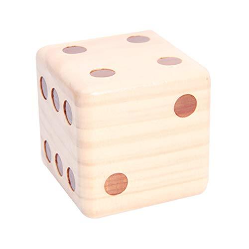 Egurs 90 mm grote houten kubus zeshoekige kubus