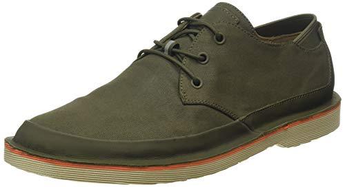 Zapatos de cordones de hombre Camper en tejido y piel de color verde militar