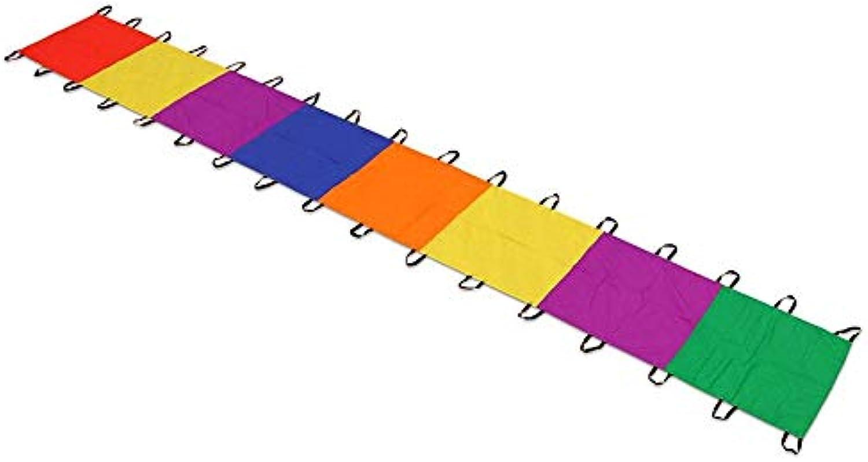 Betzold 34207 - Schwungtuch, lang, 8 x 1 m, 17 Halteschlaufen für Guten Halt - Spielzeug Kindergarten Kinder für draussen B01GEG3DUM Neuer Eintrag | Neuankömmling