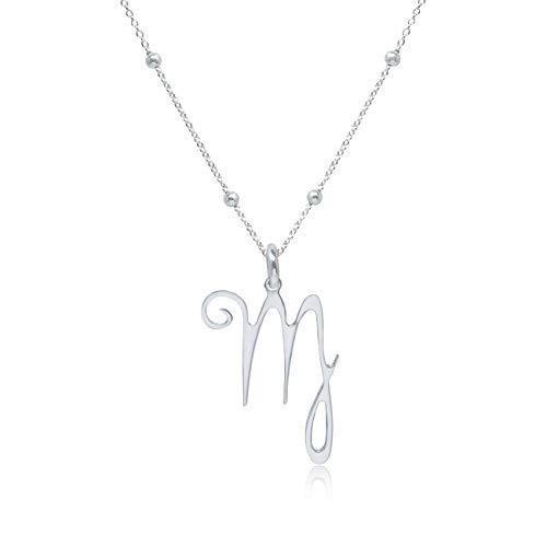 WANDA PLATA- Collar Símbolos del Zodíaco Virgo para Mujer Plata de Ley 925, Colgante Horóscopo, Astrología …