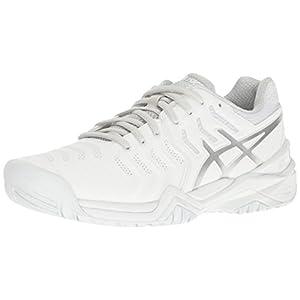 ASICS Women's Gel-Resolution 7 Tennis Shoe, White/Silver, 5 M US