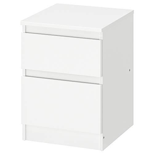 M B I - Cassettiera con 2 cassetti, Colore: Bianco, Dimensioni: Larghezza 35 cm, profondità 40 cm, Altezza 49 cm