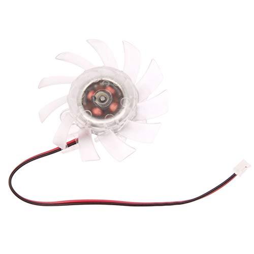 LYYCEU Ventilador de enfriamiento de la Tarjeta VGA de 20 mm de 2 Pines