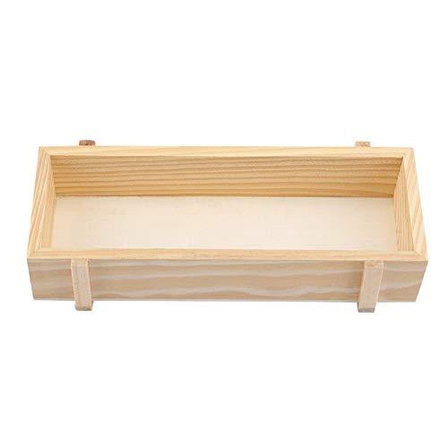 Caja de almacenamiento: organizador de caja de almacenamiento suculenta de madera multifuncional para artículos de estudio de maquillaje de plantas en macetas