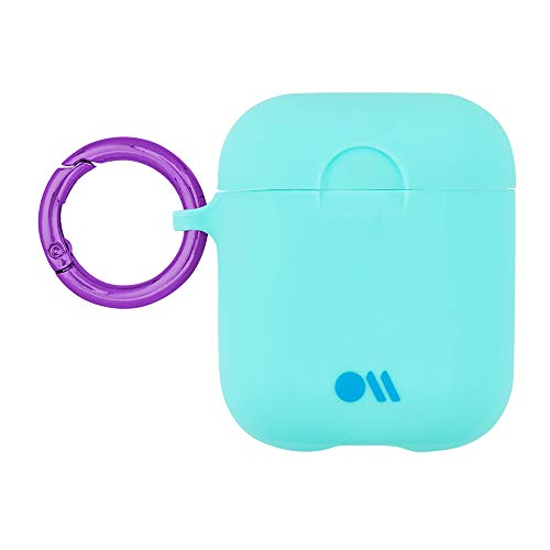 Case-Mate - AirPods Case - Hook Ups - Silicone - Compatible with Apple AirPods Series 1 & 2 - Aqua Blue