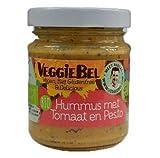 Veggiebel Hummus Pesto y Tomate 115g | Orgánico | Vegano | Sin Gluten (Pack de 2)